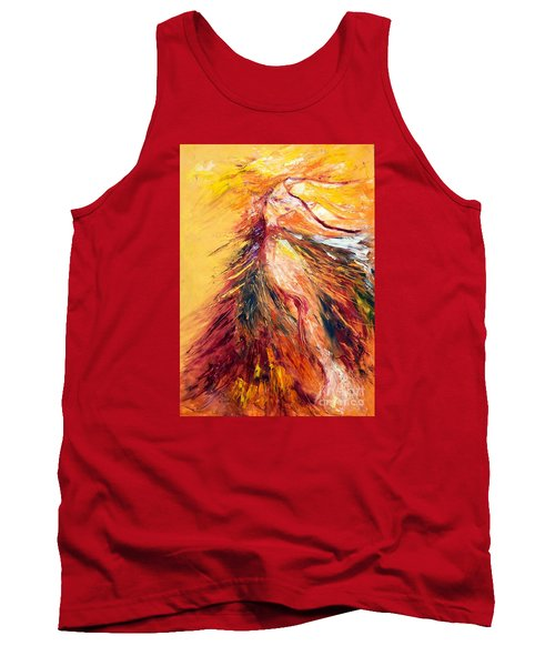 Tank Top featuring the painting Color Dance by Marat Essex