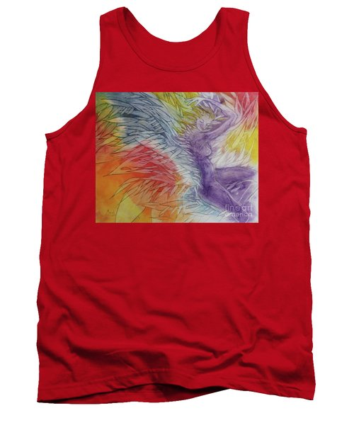 Tank Top featuring the drawing Color Spirit by Marat Essex