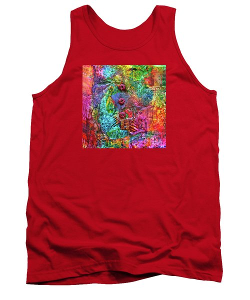 Color With Buttons Tank Top