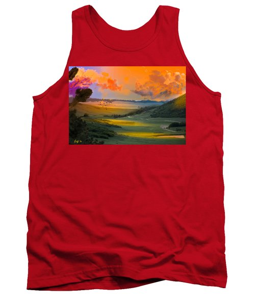 Colorado Big Valley Sunrise Tank Top by J Griff Griffin