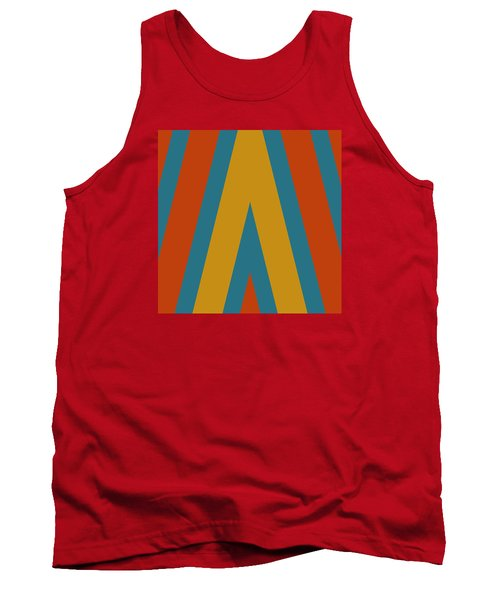 Colorful Chevrons Tank Top by Bonnie Bruno