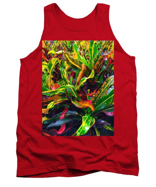 Colorful Crotons Tank Top by Kay Gilley