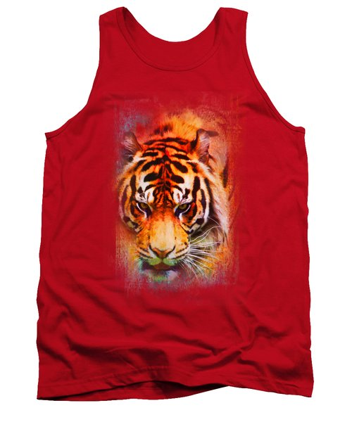 Colorful Expressions Tiger Tank Top by Jai Johnson