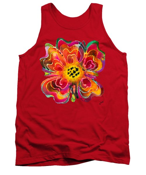 Colorful Flower Art - Summer Love By Sharon Cummings Tank Top