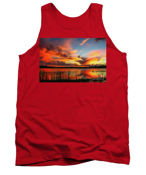 Colorful Fort Pierce Sunset Tank Top by Tom Claud