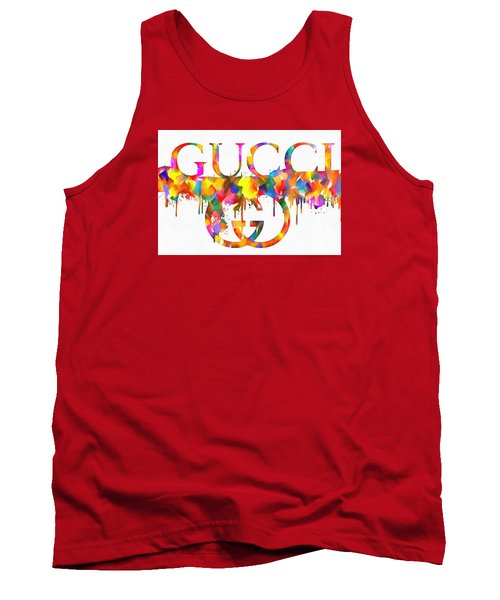 Colorful Gucci Paint Splatter Tank Top
