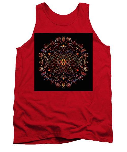 Colorful Mandala With Black Tank Top