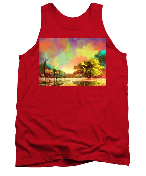 Colorful Natural Tank Top