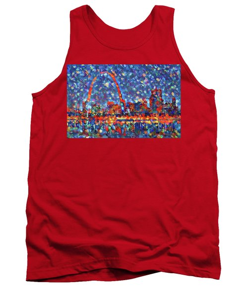 Colorful St Louis Skyline Tank Top