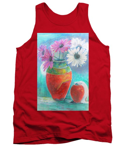 Colorful Vases And Flowers Tank Top