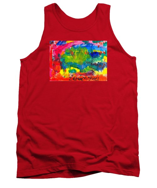 Tank Top featuring the painting Colors by Artists With Autism Inc