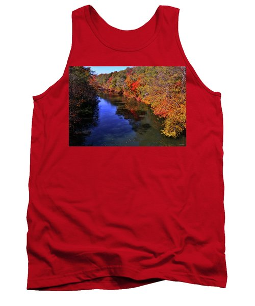 Colors Of Nature - Fall River Reflections 001 Tank Top by George Bostian