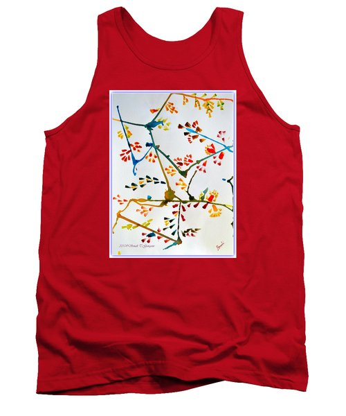 Colourful Blossoms Tank Top by Sonali Gangane