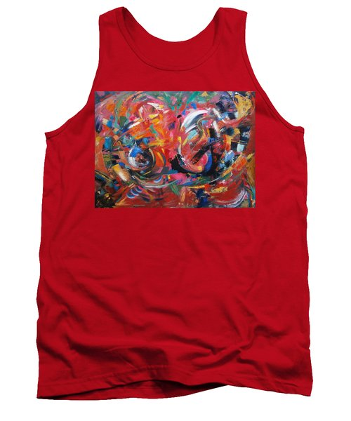 Tank Top featuring the painting Committee Action by Gary Coleman