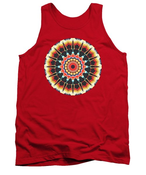 Concentric Balance Of Colors Tank Top by Phil Perkins
