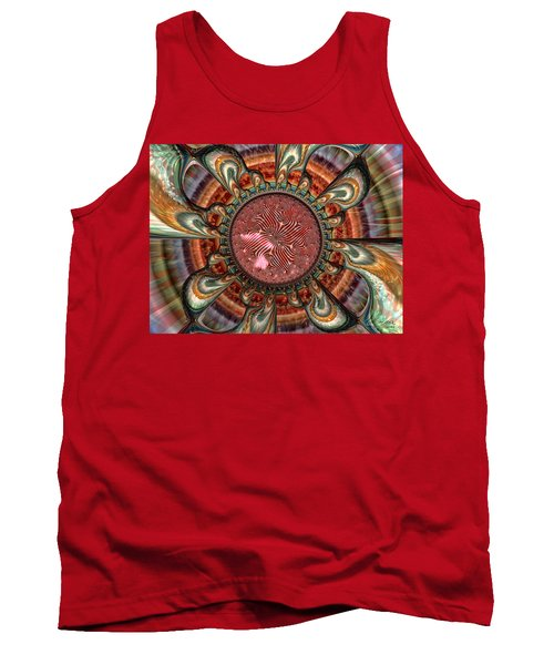 Tank Top featuring the digital art Conception by Manny Lorenzo