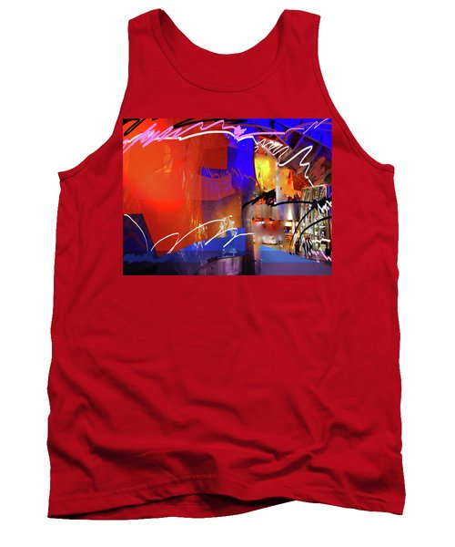 Tank Top featuring the digital art Concert Stage by Walter Fahmy
