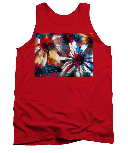Cone Flower Fantasia I Tank Top by Jack Torcello