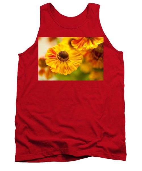Tank Top featuring the photograph Coneflower Macro by Jenny Rainbow