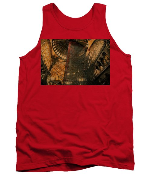 Tank Top featuring the photograph Construction - Hagia Sophia by Jim Vance