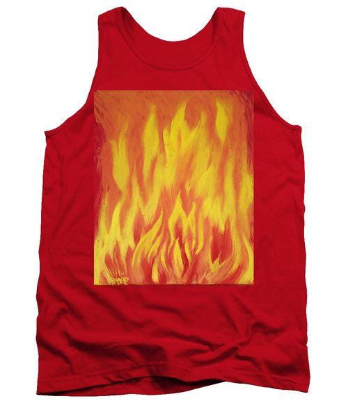 Tank Top featuring the painting Consuming Fire by Antonio Romero