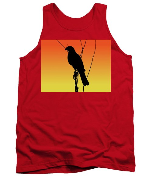 Coopers Hawk Silhouette At Sunset Tank Top