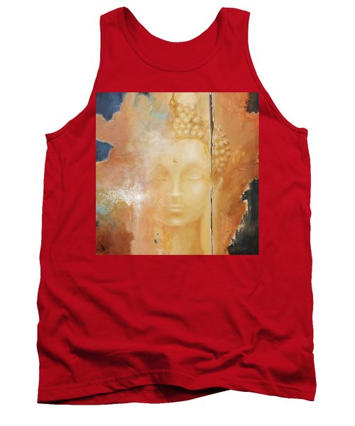 Tank Top featuring the painting Copper Buddha by Dina Dargo