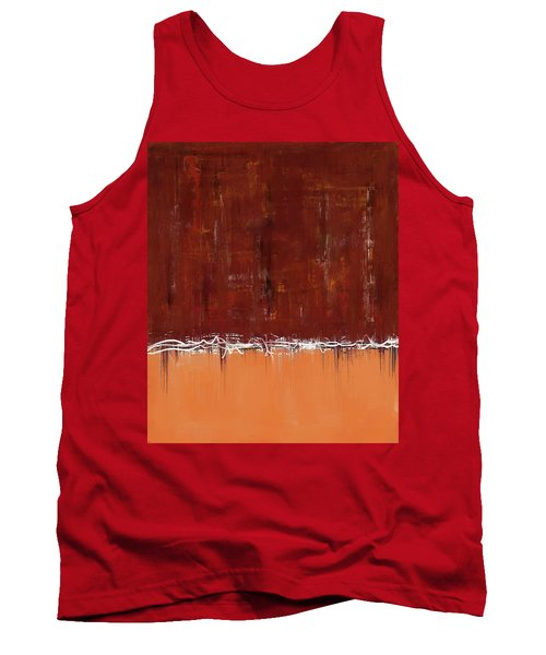 Copper Field Abstract Painting Tank Top