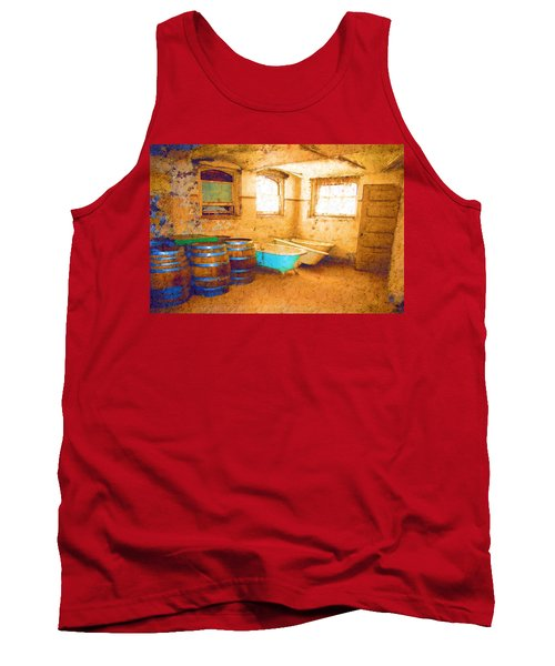Tank Top featuring the digital art Cornered by Holly Ethan