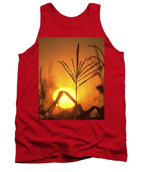 Cornfield Sunset Tank Top by Garry McMichael