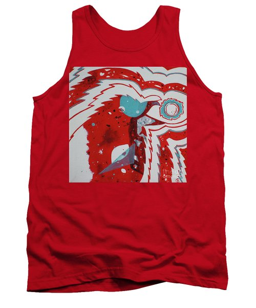 Tank Top featuring the painting Cosmic Corvid by Cynthia Lagoudakis