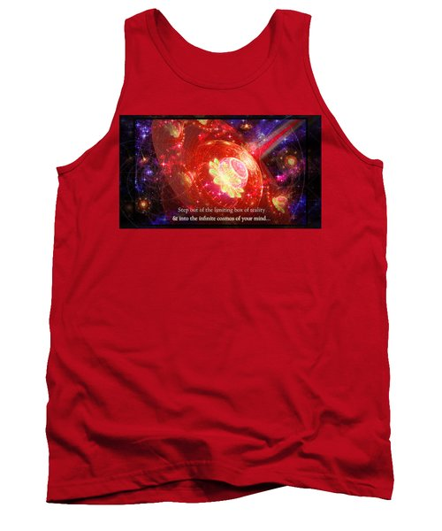 Tank Top featuring the mixed media Cosmic Inspiration God Source by Shawn Dall