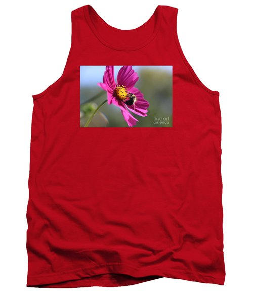 Cosmos With Bumblebee Tank Top by Yumi Johnson