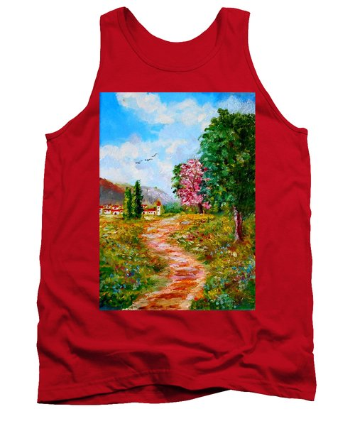 Country Pathway In Greece Tank Top