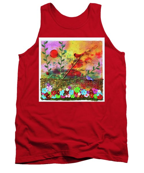 Country Sunrise Tank Top by Donna Blackhall