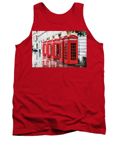 Covent Garden Phone Boxes Tank Top