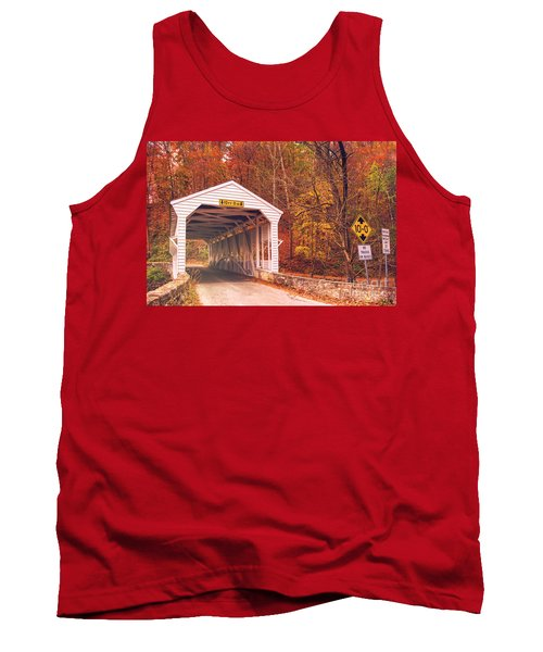 Covered Bridge At Valley Forge Tank Top