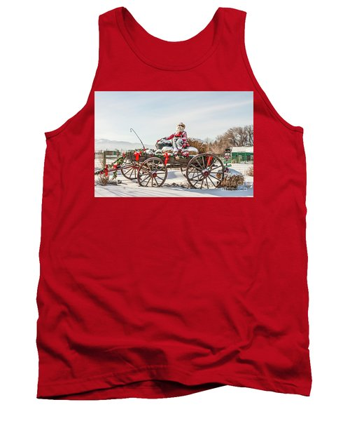 Cowboy Santa Taking A Quick Break Tank Top