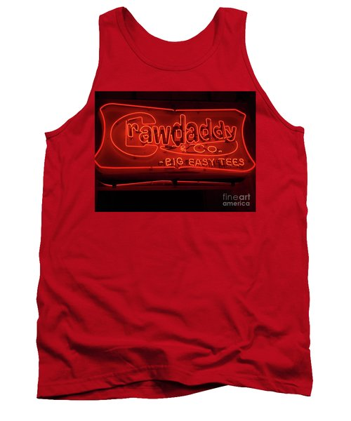 Tank Top featuring the photograph Craw Daddy Neon Sign by Steven Spak