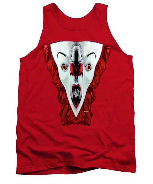 Creepy Clown 01215 Tank Top by Rafael Salazar