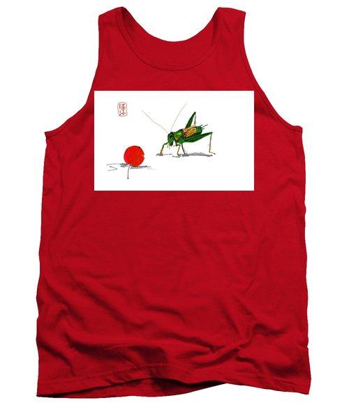 Cricket  Joy With Cherry Tank Top by Debbi Saccomanno Chan