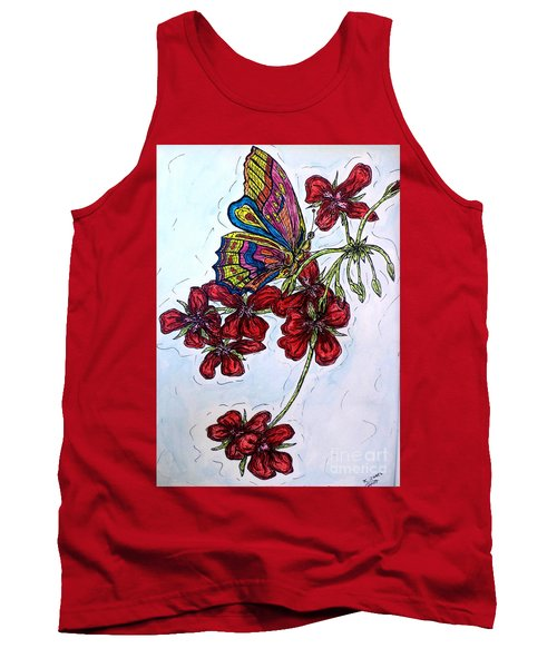 Crimson Fancy Tank Top