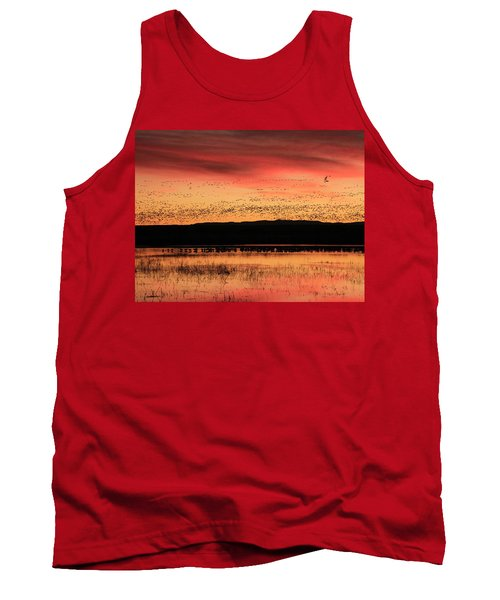 Crimson Sunset At Bosque Tank Top
