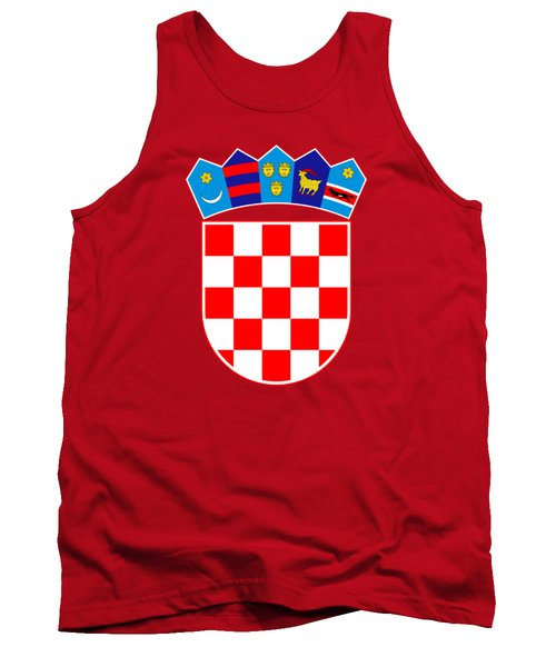 Tank Top featuring the drawing Croatia Coat Of Arms by Movie Poster Prints