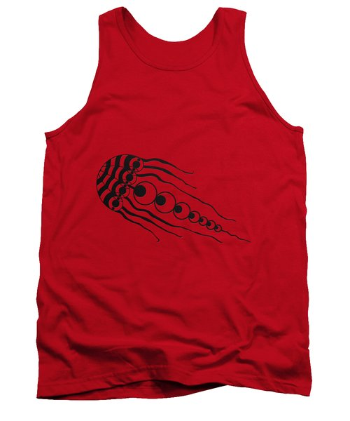Crop Circle Formation Near Wayland's Smithy In Oxfordshire England In Black Tank Top