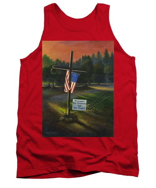 Cross Of Remembrance Tank Top