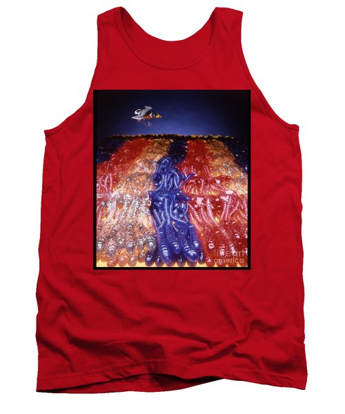 Cruising Above The Sea Of Worms Tank Top