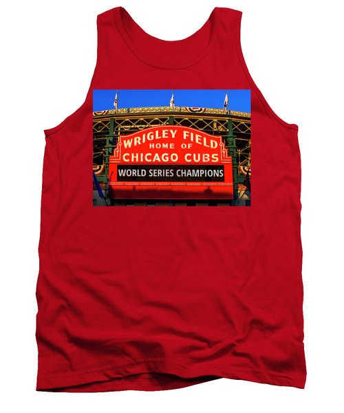 Cubs Win World Series Tank Top by Andrew Soundarajan