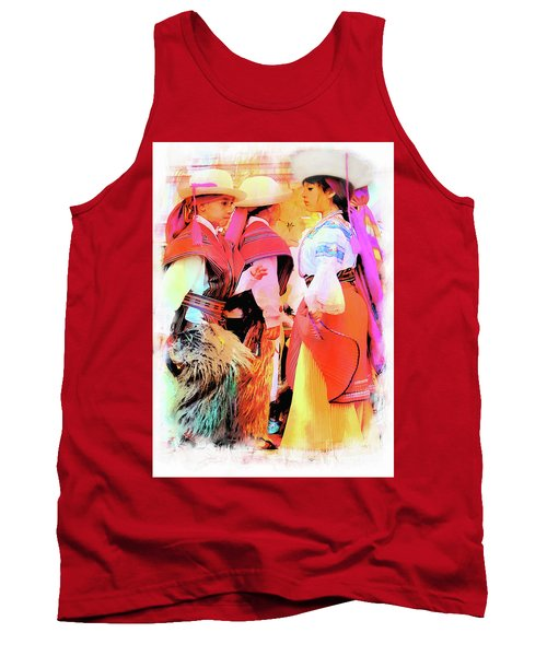 Tank Top featuring the photograph Cuenca Kids 884 by Al Bourassa