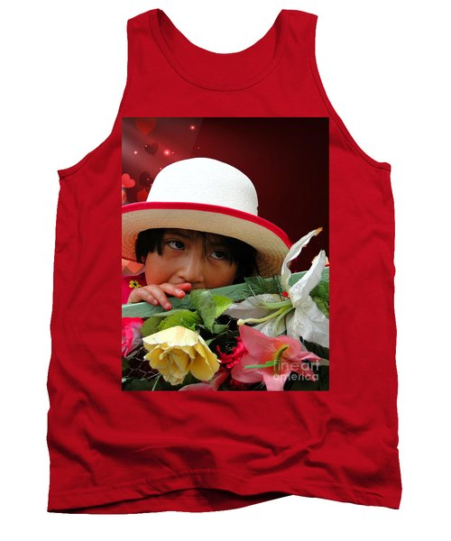 Tank Top featuring the photograph Cuenca Kids 887 by Al Bourassa